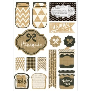 Multicraft: Handmade - Vintage Kraft Stickers