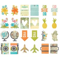 Simple Stories: You are Here! Pocket Pieces Die-Cuts 12/Pkg