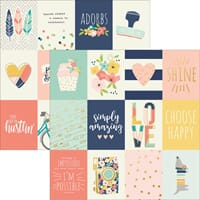 Simple Stories: 3x4 Journaling Cards - Posh