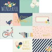 Simple Stories: 4x6 Horizontal Journaling Cards - Posh