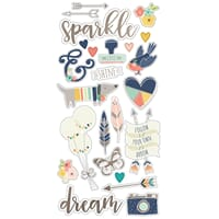Simple Stories: Posh Chipboard Stickers, 6x12 inch
