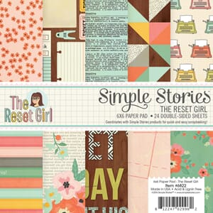 Simple Stories: The Reset Girl Paper Pad, 6x6 inch