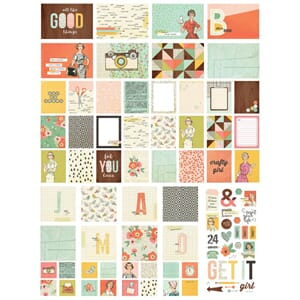 Simple Stories: The Reset Girl Sn@p! Card Pack 122/Pkg