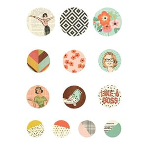 Simple Stories: The Reset Girl Self-Adhesive Bradz 13/Pkg