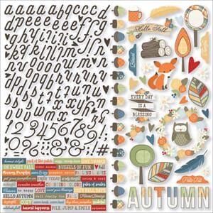 Simple Stories: Hello Fall Combo Cardstock Stickers