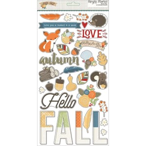 Simple Stories: Hello Fall Chipboard Stickers, 6x12