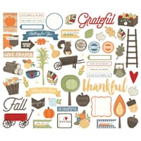 Simple Stories: Hello Fall Bits & Pieces Die-Cuts 62/Pkg