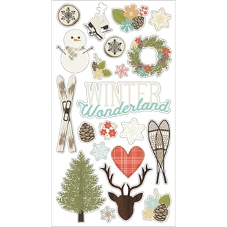 Simple Stories: Winter Wonderland Chipboard Stickers