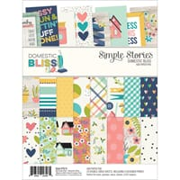 Simple Stories: Domestic Bliss Paper Pad, 6x8, 24/Pkg