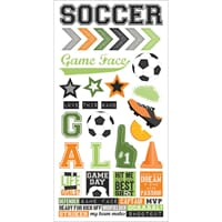 Simple Stories: Soccer Cardstock Stickers, 6x12
