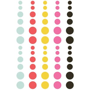 Simple Stories: Emoji Love Enamel Dots, 60/Pkg