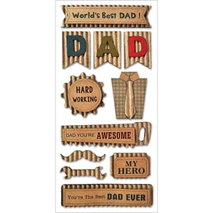 Multicraft: Best Dad - Vintage Kraft Stickers