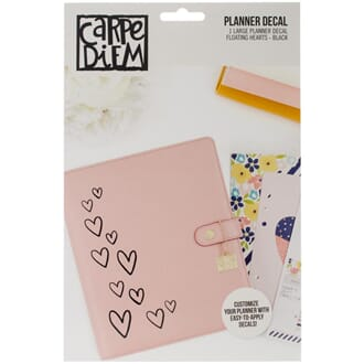 Carpe Diem: Floating Hearts - Large Planner Decals