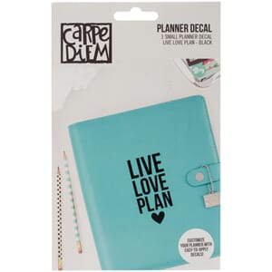 Carpe Diem: Live, Love, Plan - Small Planner Decals