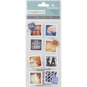 Paper House: Basketball - Snap Shots Sticker, 8/Pkg