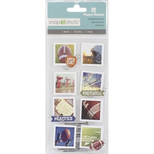 Paper House: American Football - Snap Shots Sticker, 8/Pkg
