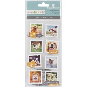Paper House: Dogs - Snap Shots Sticker, 8/Pkg