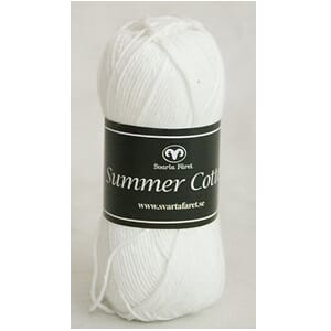 Svarta Fåret: Hvit - Summer Cotton, 50 gram