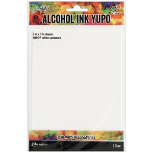 Tim Holtz: Alcohol Ink White Yupo Paper, 10/Sheets