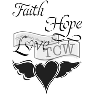Crafter's Workshop: Faith Hope & Love - Journaling Stencils,