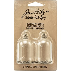 Tim Holtz: Idea-Ology Decorative Glass Domes 2/Pkg