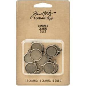 Tim Holtz: Idea-Ology Charmed Round Charms, 12/Pkg