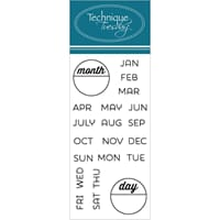 Technique Tuesday: Calendar - Months & Days