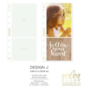 Color Crush -  Design J - Personal Photo Sleeve Pages 8/Pkg