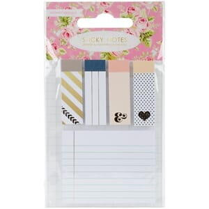 Webster's: Color Crush Planner Sticky Notepad Accents 5/Pkg