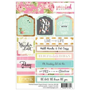 Websters Pages: Tags & Prompts - Painted Passport Stickers