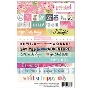 Websters Pages: Words - Painted Passport Stickers