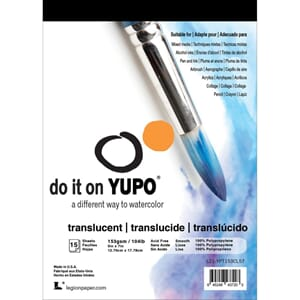 Yupo Paper - Translucent, 5x7 inch, 15 Sheets/Pkg