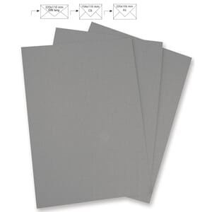 Brevpapir A4 - Dark Grey, 5 stk