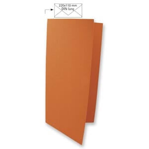 Doble kort DIN long - Dark Orange, 5 stk
