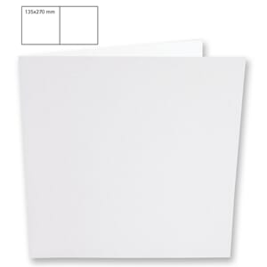 Doble kort 135x135mm - White, 5 stk