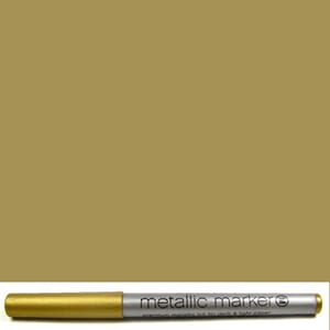 American Crafts: Gold - Metallic Markers Medium Point