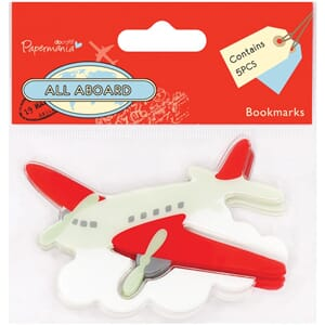 Papermania: All Aboard Bookmarks 5/Pkg