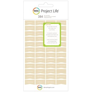 Project Life: Tan Day Stickers - Themed Cards