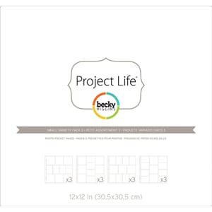 Project Life: Photo Pocket Pages 12/Pkg