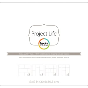 Project Life: Small Variety 6 - Photo Pocket Pages 12/Pkg