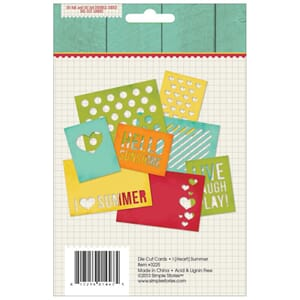 Simple Stories: I Heart Summer Cuts 4x6 inch