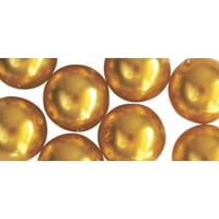 Renaissance 4mm - Golden Yellow, voksperle av glass