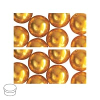 Renaissance 8mm - Golden Yellow, voksperle av glass