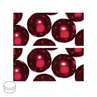 Renaissance 8mm - Classic Red, voksperle av glass