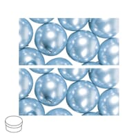 Renaissance 8mm - Light Blue, voksperle av glass