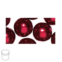 Renaissance 10mm - Classic Red, voksperle av glass