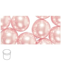 Renaissance 12mm - Pale-pink, voksperle av glass