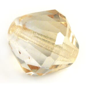 Champagne Gold - 14mm Cone - Glass-faceted double cone 1stk