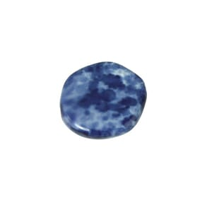 Midnight Blue - 19mm pentagon - Glass marble Disc, 1 stk