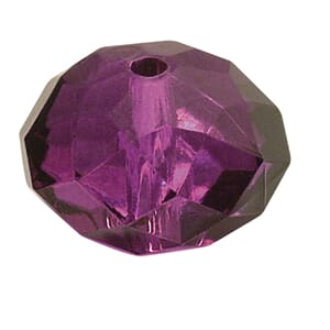 Fuchsia - 18mm Faceted - Acrylic-jewellery-bead, 1 stk